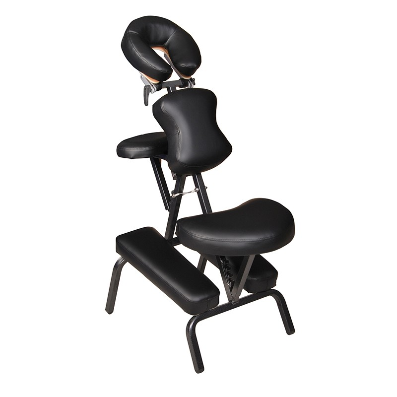 Professional Portable Massage Chair Black Leather