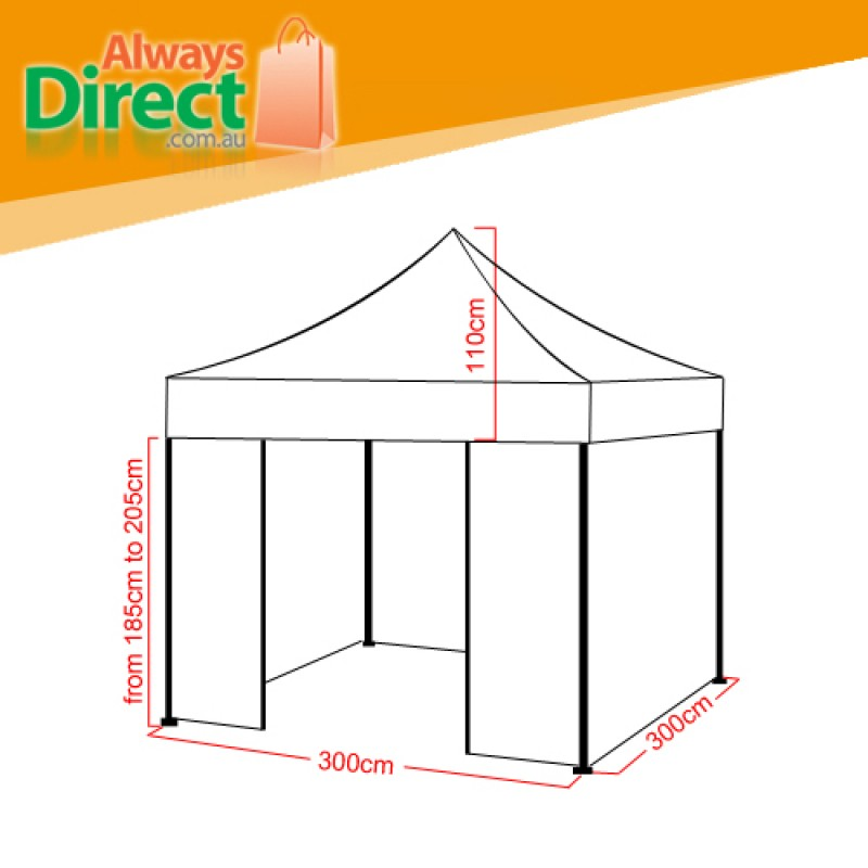 Folding Gazebo Pop Up Outdoor Marquee Size