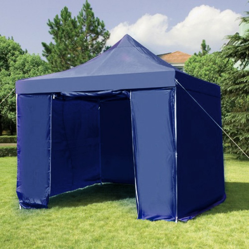 3X3M Folding Gazebo Marquee Pop Up Outdoor Shade Canopy Blue