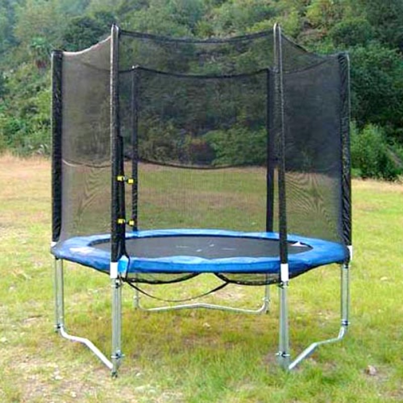 8 FT Trampoline with Safety Net and Ladder