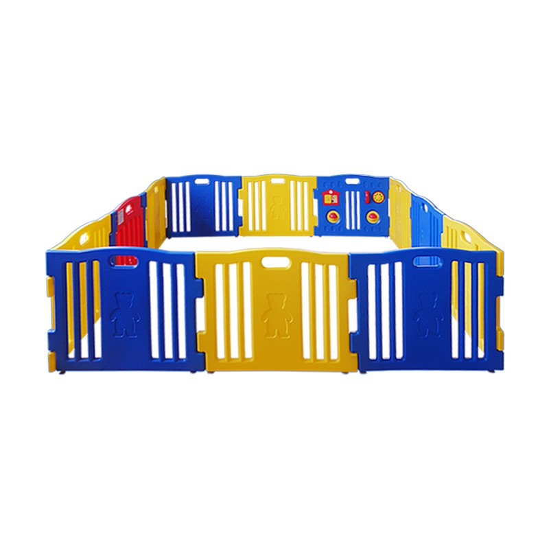 Sided Plastic Playpen Safety Gate Baby Toddler Child 12 Panel