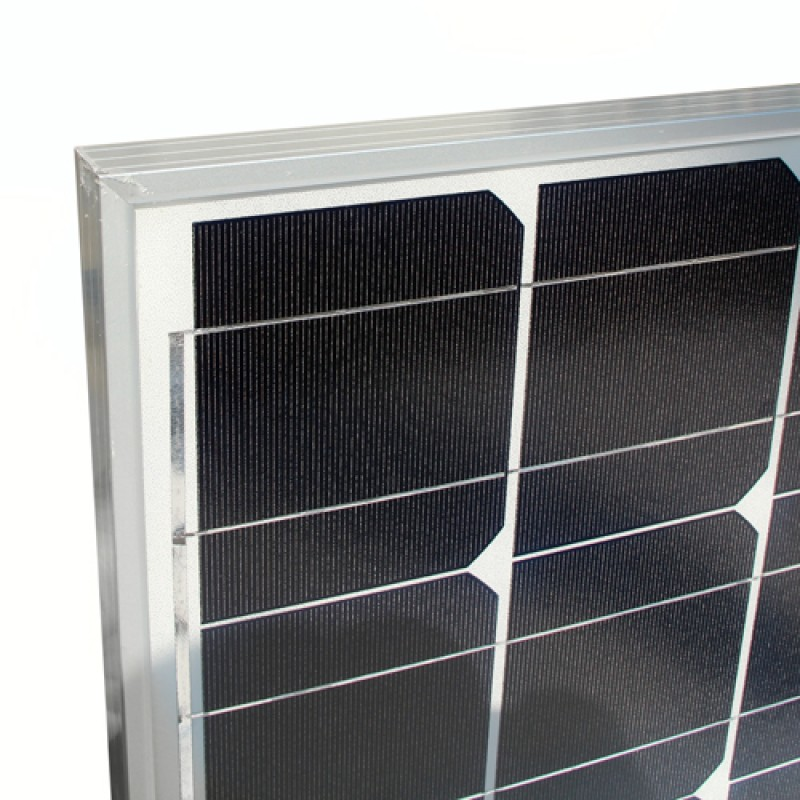 Detailed Look of Mono Solar Panel Home Power Generator Battery 120W