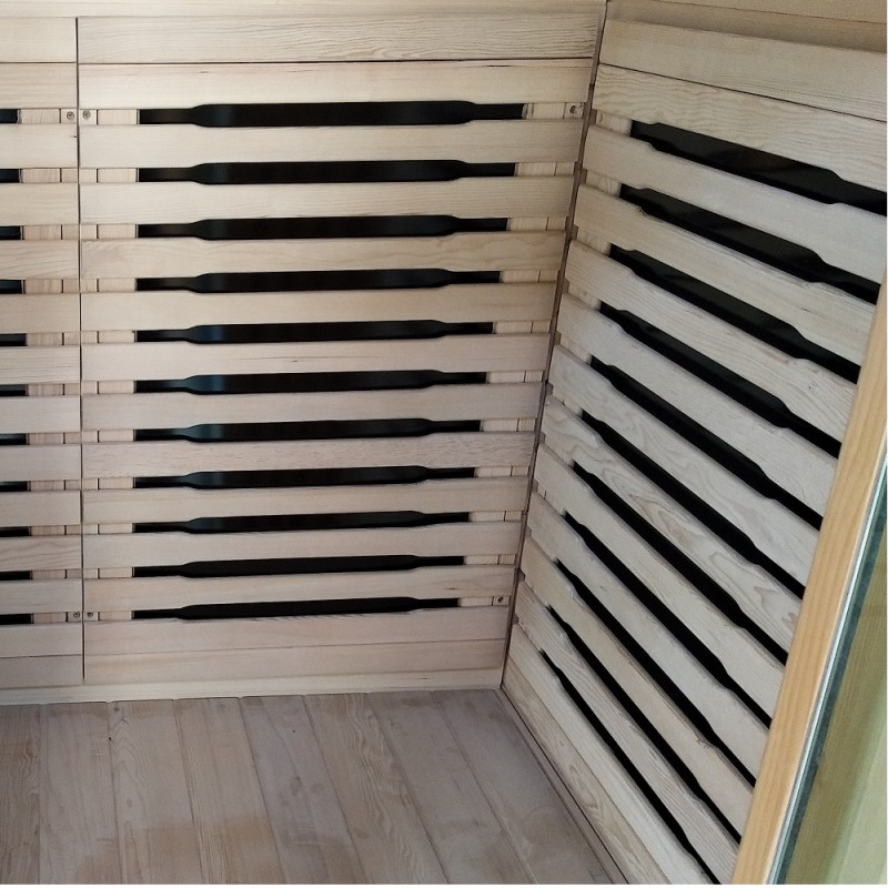 2 Person Luxury Sauna 002B New Design Bench Back and Side