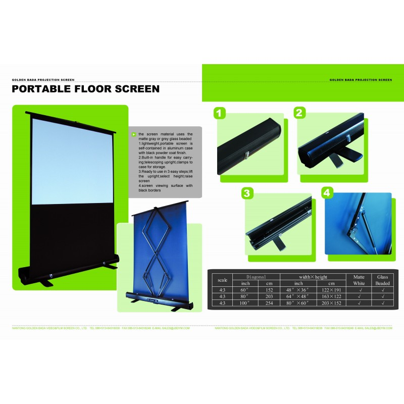 100quot Pull Up Portable Office Projection Projector Screen 43 : portablefloorscreen from alwaysdirect.com.au size 800 x 800 jpeg 89kB