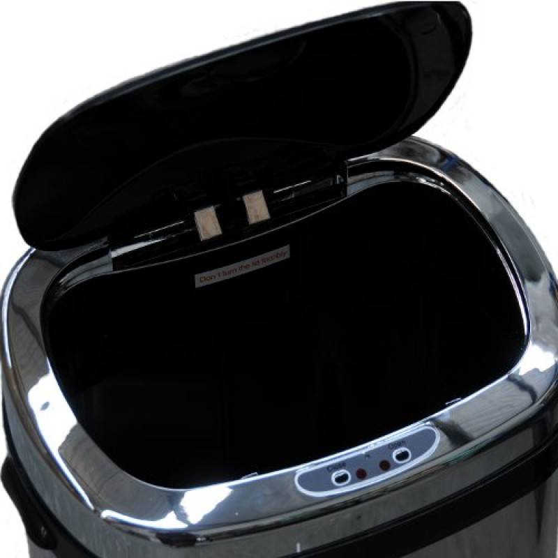 Stainless Steel Sensor Rubbish Bin Top Open