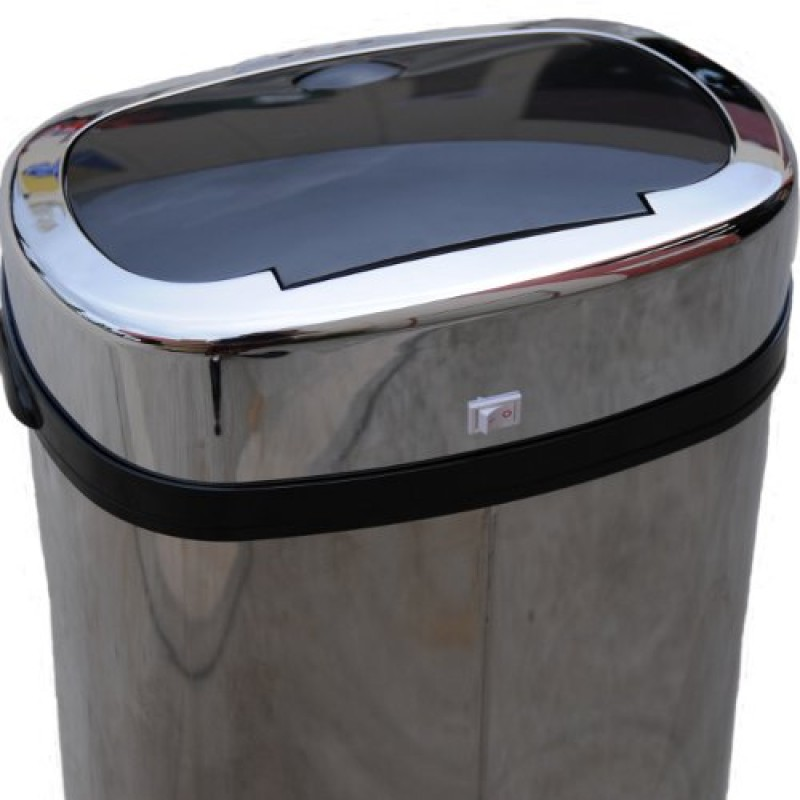 Stainless Steel Sensor Rubbish Bin Top Closed