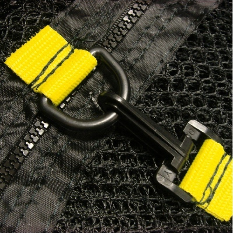 Trampoline Safety Net Enclosure with Zip and Buckle for Doubled Safety