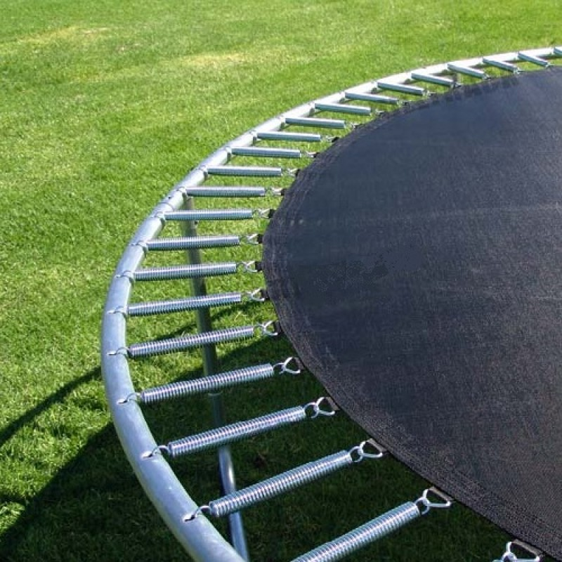 Trampoline Springs and Mat Cloese Look (110pcs Galvanised Steel, 180mm)