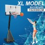 60 inch Portable XL Basketball Ring System Adjustable (2.3-3.05m) Backboard 152x90cm