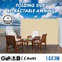 1.6x3m Aluminium Frame Folding Side Retractable Awning