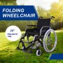 "24"" Tyres Quick Release Folding Wheelchair with Pneumatic Tyre"