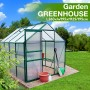 Polycarbonate & Aluminium Walk-in Greenhouse 260x195cm Green (6mm Panel)