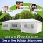 Wedding Gazebo Outdoor Marquee Party Tent 3m x 9m White Cooper