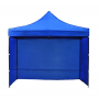 3X3M Folding Gazebo Outdoor Marquee Pop Up 3 Sided Wall Navy Blue