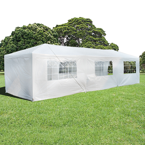 Wedding Gazebo Outdoor Marquee Party Tent 3m x 9m White