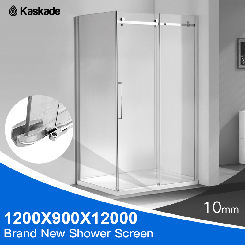 Details About Mel Pickup Only Shower Screen 1200x900x2000mm Frameless Glass Sliding Door